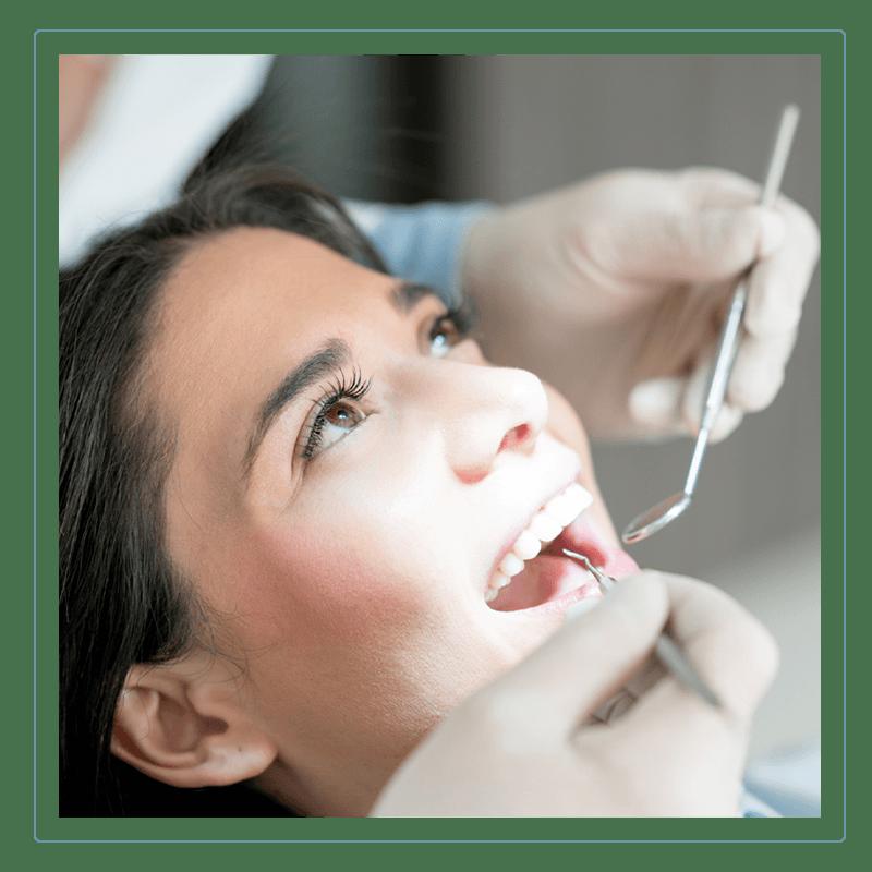 woman undergoing dental exam