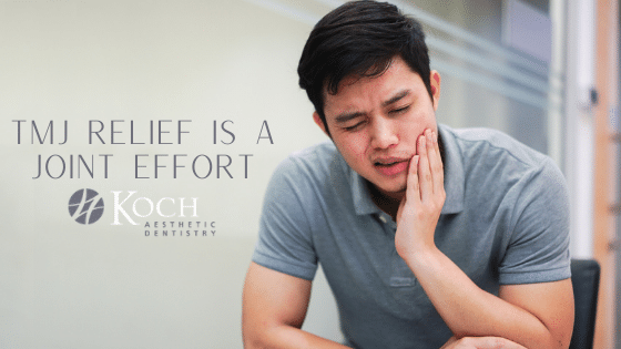 """""""TMJ Relief is a Joint Effort"""" banner image"""